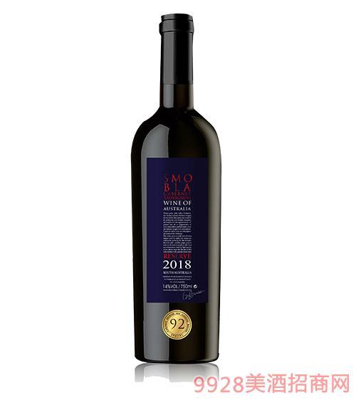 思慕贝拉赤霞珠干红葡萄酒红标14度750ml