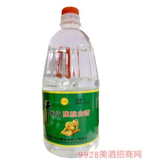 牛�钤���白酒42度2L