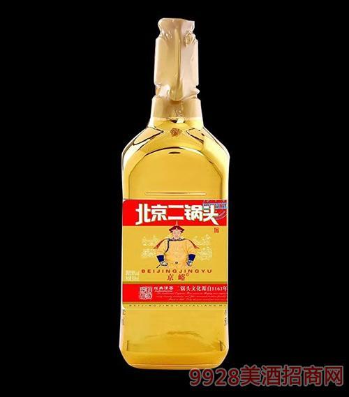 京峪北京二��^酒金瓶500ml