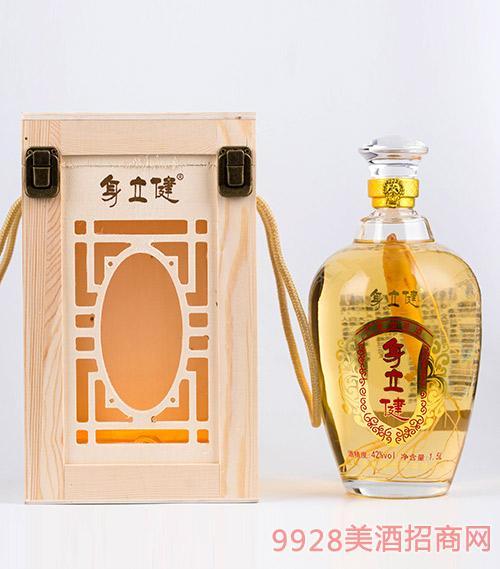 身立健人参酒木盒42度1.5L