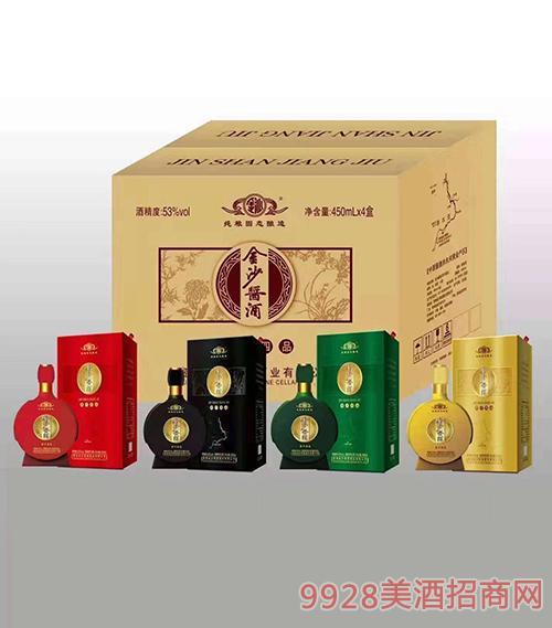 金沙酱酒53度450mlx4