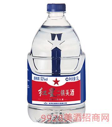 52度红星二锅头酒5L(桶装)