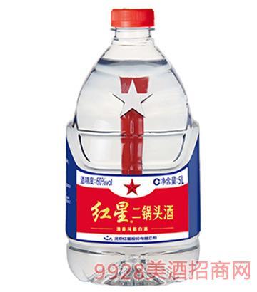 60度红星二锅头酒5L(桶装)
