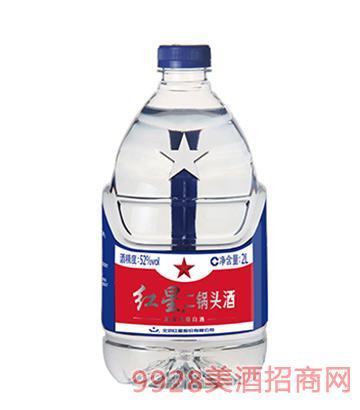 52度红星二锅头酒2L(桶装)