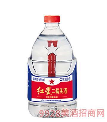 60度红星二锅头酒2L(桶装)