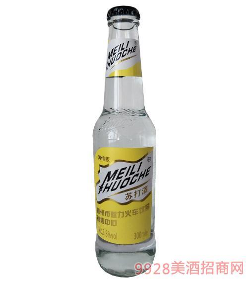 魅力火车苏打酒复合水蜜桃味3.5度300ml清爽型