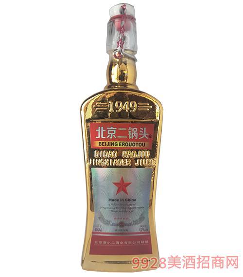 北京二锅头出口型方瓶42度500ml(金色)