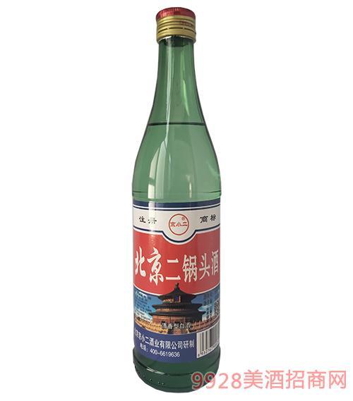 京小二北京二锅头酒56度500ml绿瓶