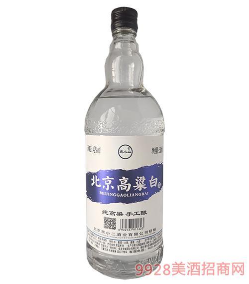 京小二酒北京高粱白42度500ml(蓝标)