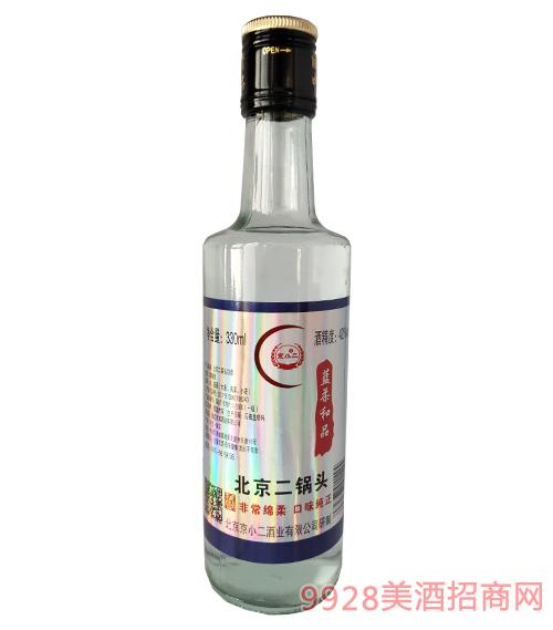 京小二酒蓝柔和品42度330ml