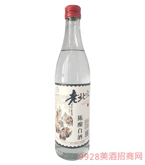 京小二老北京陈酿白酒42度500ml