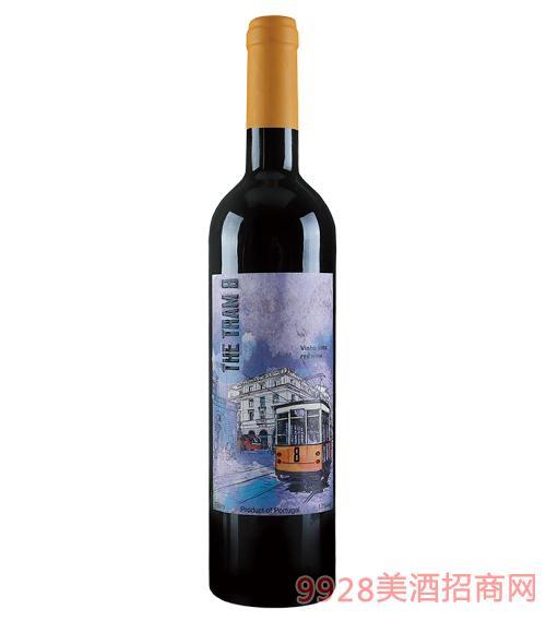 8路电车红葡萄酒13度750ml