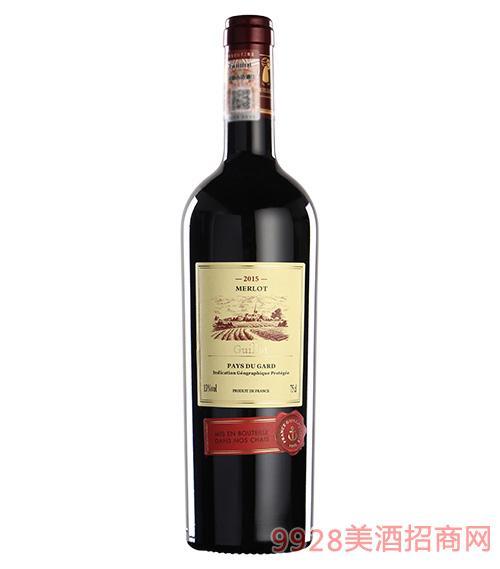 法国吉洛美露2015 红葡萄酒