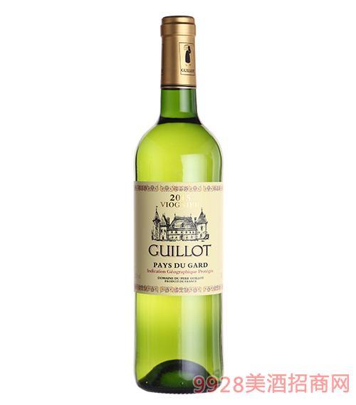 法国吉洛维欧尼2015白葡萄酒
