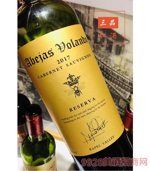 金蜂庄园珍藏赤霞珠红葡萄酒