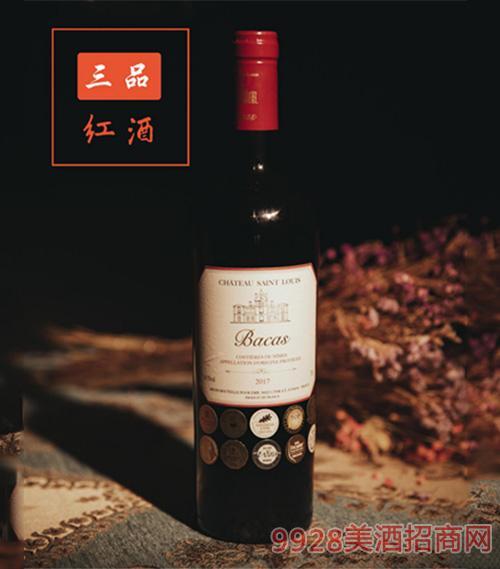 巴卡司城堡干�t葡萄酒