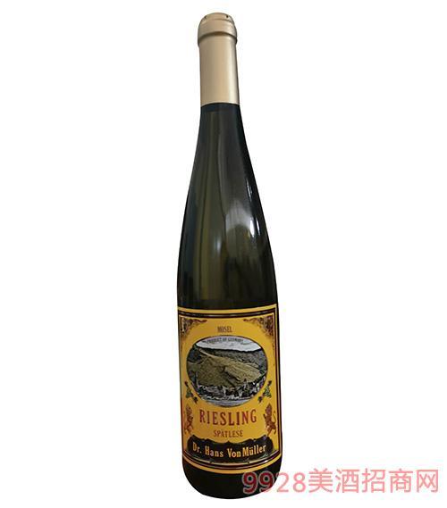 汉斯博士雷司令晚收白葡萄酒