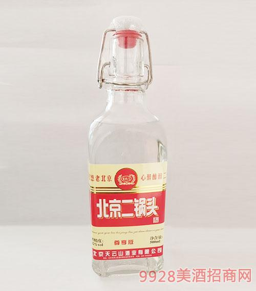 北京二��^酒尊享版�t��42度500ml