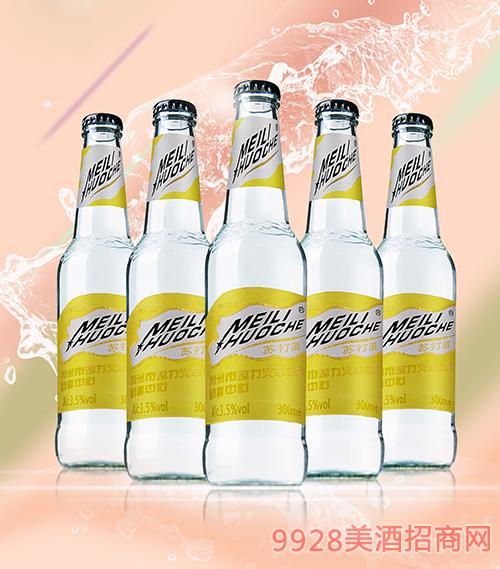 MeiliHuoche清纯版苏打酒复合水蜜桃味3.5度300ml