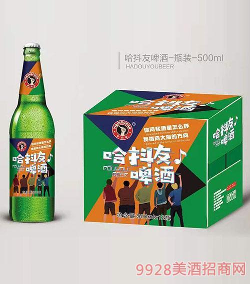 驿青春哈抖友啤酒瓶装500mlx12