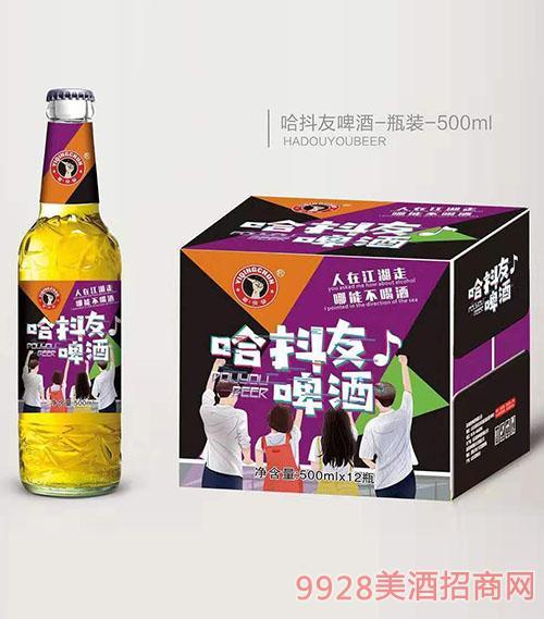 驿青春哈抖友啤酒500mlx12