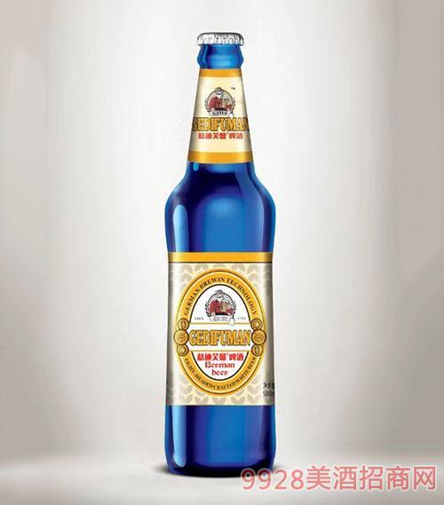 格迪芙曼啤酒蓝瓶500ml
