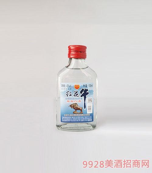 紅花牛陳釀白酒42度100ml