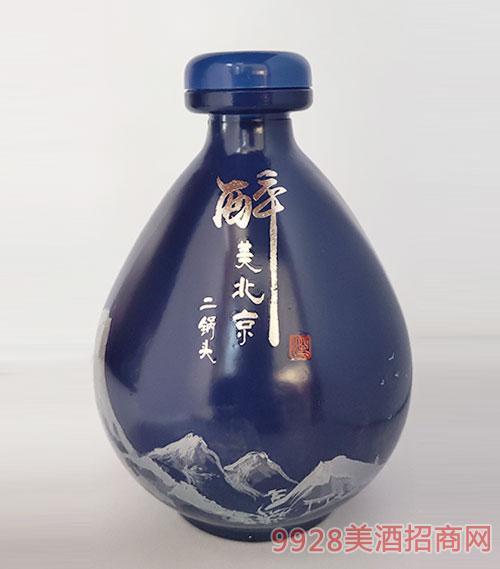 醉美北京二锅头酒坛装蓝