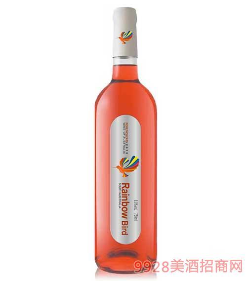 彩虹鸟珍藏莫斯卡托桃红甜葡萄酒