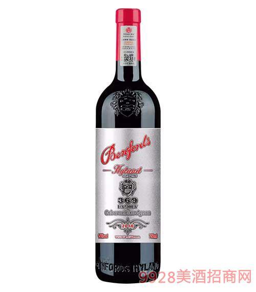 奔富海兰酒庄家族牌369赤霞珠干红葡萄酒