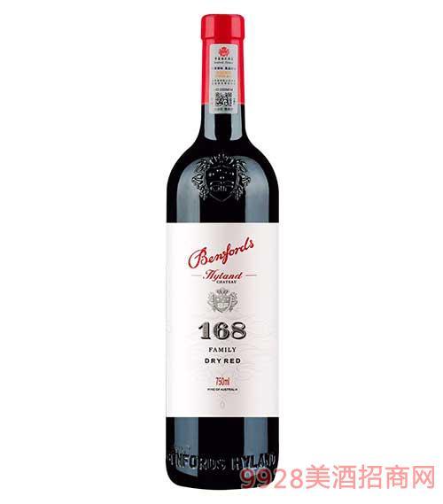 奔富海蘭酒莊家族牌168干紅葡萄酒