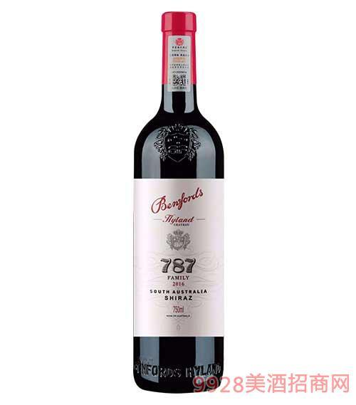 奔富海�m酒�f家族牌787干�t葡萄酒