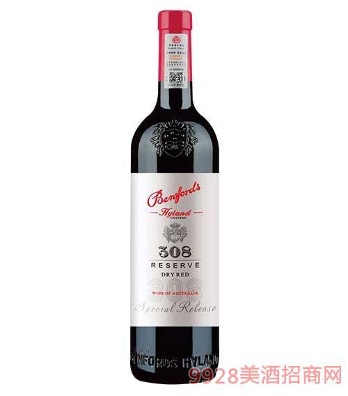 奔富海�m酒�f精�x308干�t葡萄酒