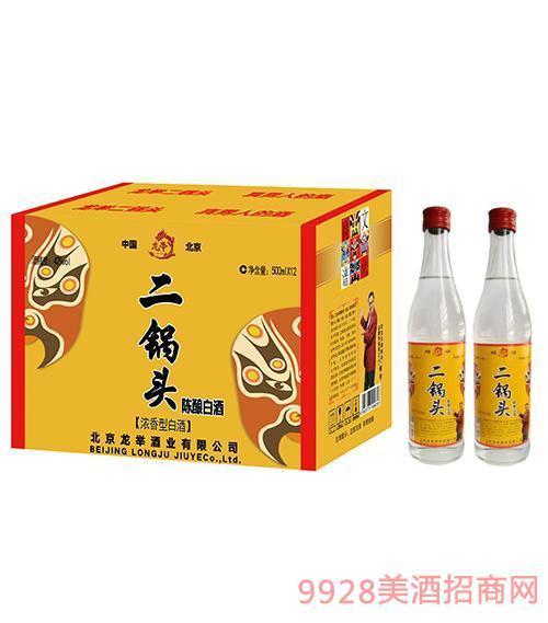 龍舉二鍋頭陳釀白酒外箱42度500ml