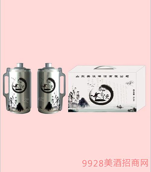 泰山豪侠啤酒2Lx4白盒