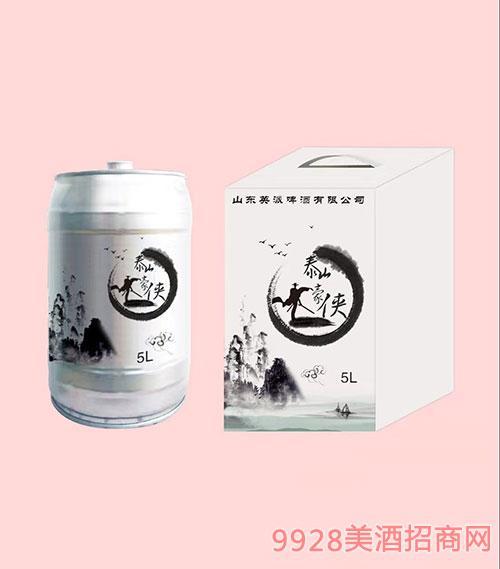 泰山豪侠啤酒5L