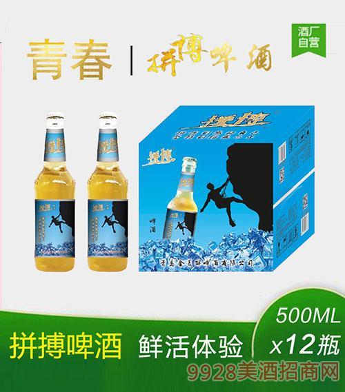拼搏啤酒500mlx12