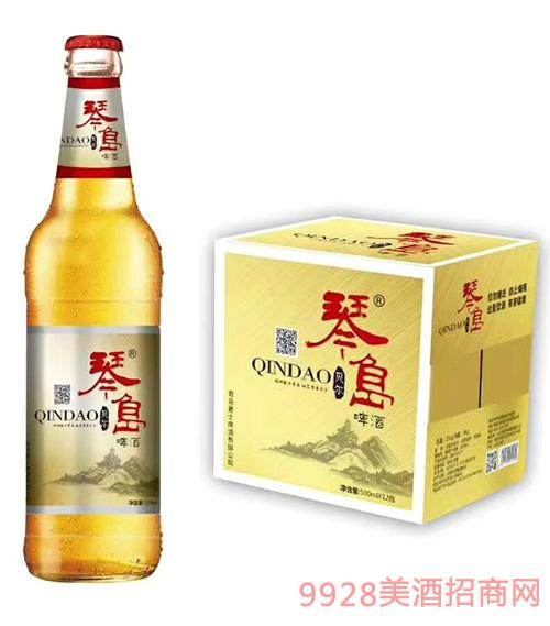 琴岛贝尔啤酒500ml
