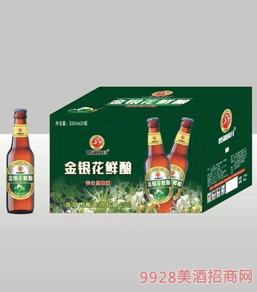 碧湖柳月金银花鲜酿养生型啤酒330ml