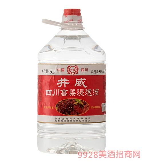 井威四川高粱浸泡酒60度5L