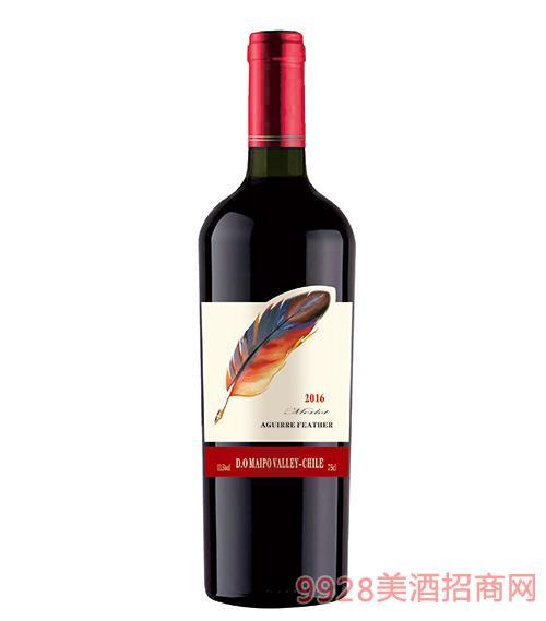 阿奎尔羽毛美乐葡萄酒