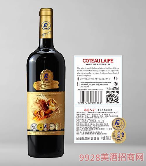 歌图人生荣达干红葡萄酒15.6度750ml