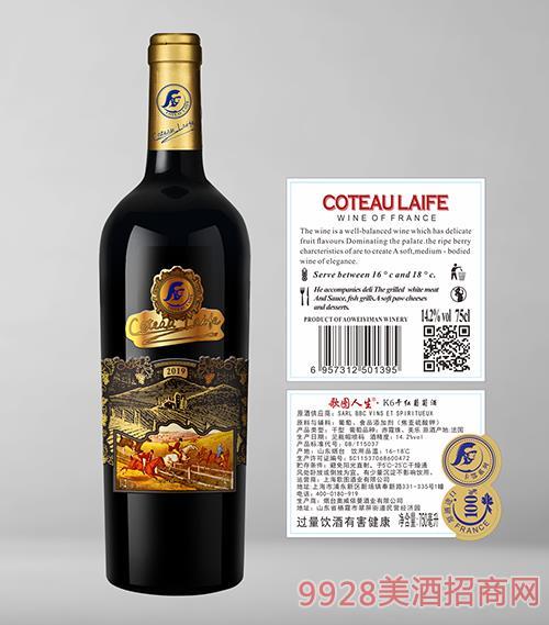 歌图人生K6干红葡萄酒14.2度750ml