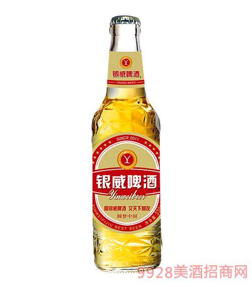 �y威啤酒�A�糁��8度白哈瓶330ml