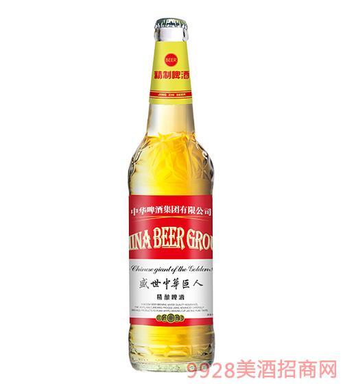 盛世中�A巨人精�啤酒普通�w8度