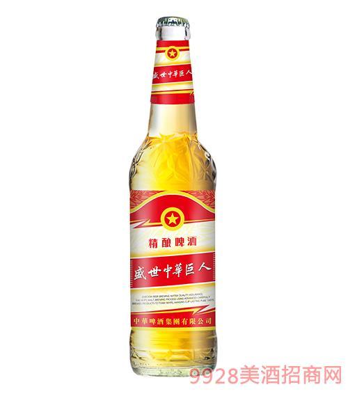 盛世中�A巨人精�啤酒普通�w10度