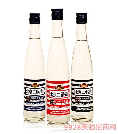 北京二鍋頭酒綿柔小高瓶42度