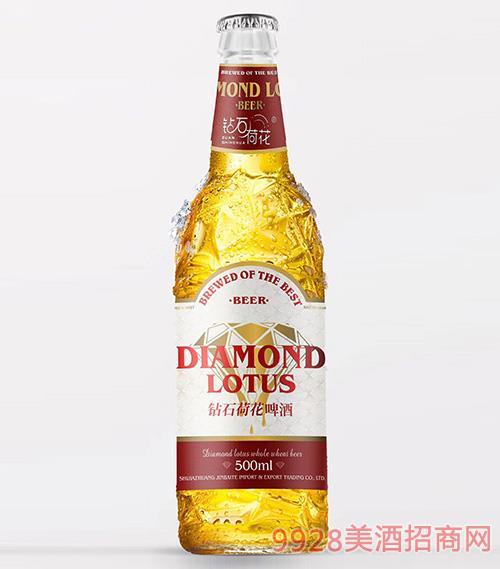 钻石荷花啤酒红标500ml