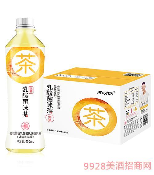 乳酸菌味茶樱花蜜桃450ml