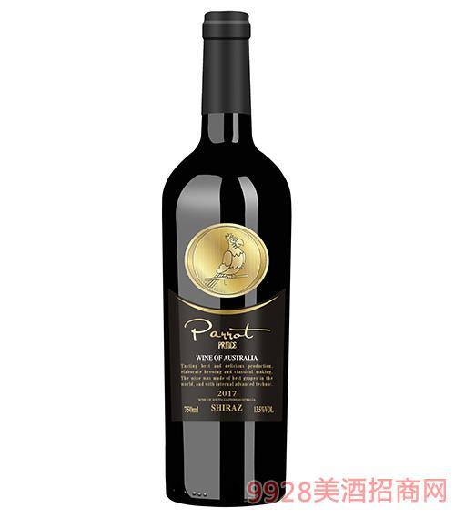 澳大利亞鸚鵡王子西拉干紅葡萄酒14.5度750ml
